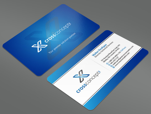 CrossConcept, Inc. Business Cards and Stationery  Draft # 21 by ArtworksKingdom