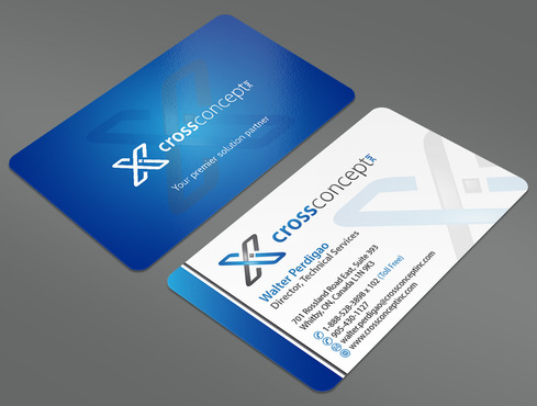 CrossConcept, Inc. Business Cards and Stationery  Draft # 22 by ArtworksKingdom