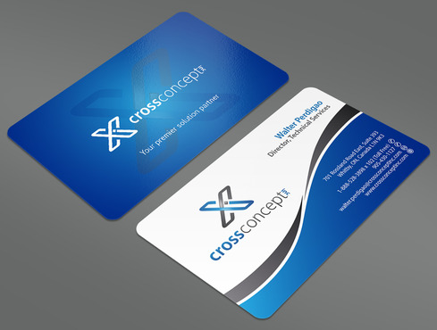 CrossConcept, Inc. Business Cards and Stationery  Draft # 24 by ArtworksKingdom