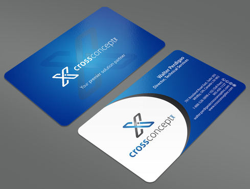 CrossConcept, Inc. Business Cards and Stationery  Draft # 25 by ArtworksKingdom