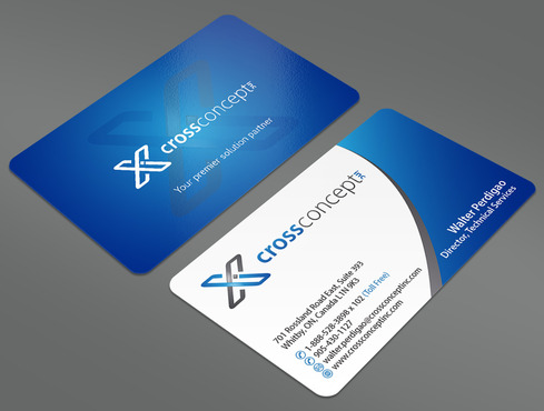 CrossConcept, Inc. Business Cards and Stationery  Draft # 27 by ArtworksKingdom