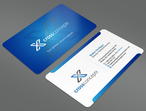 CrossConcept, Inc. Business Cards and Stationery  Draft # 29 by ArtworksKingdom