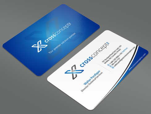 CrossConcept, Inc. Business Cards and Stationery  Draft # 31 by ArtworksKingdom