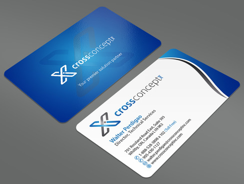 CrossConcept, Inc. Business Cards and Stationery  Draft # 32 by ArtworksKingdom