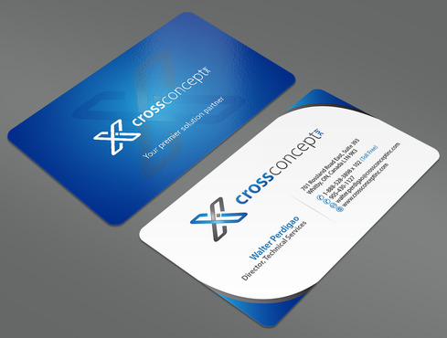CrossConcept, Inc. Business Cards and Stationery  Draft # 33 by ArtworksKingdom
