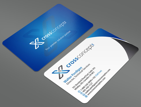 CrossConcept, Inc. Business Cards and Stationery  Draft # 34 by ArtworksKingdom