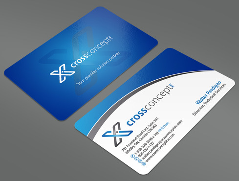 CrossConcept, Inc. Business Cards and Stationery  Draft # 35 by ArtworksKingdom