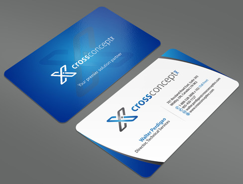 CrossConcept, Inc. Business Cards and Stationery  Draft # 36 by ArtworksKingdom