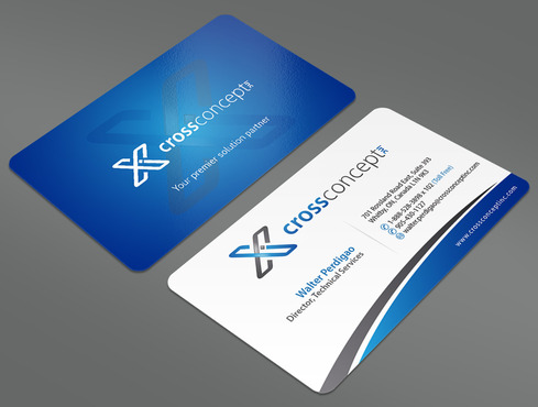 CrossConcept, Inc. Business Cards and Stationery  Draft # 38 by ArtworksKingdom