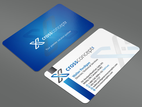 CrossConcept, Inc. Business Cards and Stationery  Draft # 39 by ArtworksKingdom