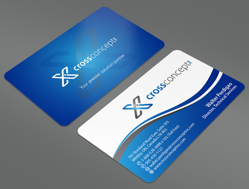 CrossConcept, Inc. Business Cards and Stationery  Draft # 40 by ArtworksKingdom