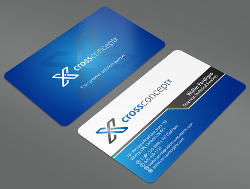 CrossConcept, Inc. Business Cards and Stationery  Draft # 41 by ArtworksKingdom