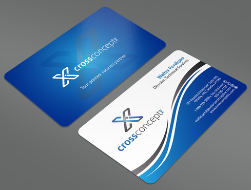 CrossConcept, Inc. Business Cards and Stationery  Draft # 44 by ArtworksKingdom