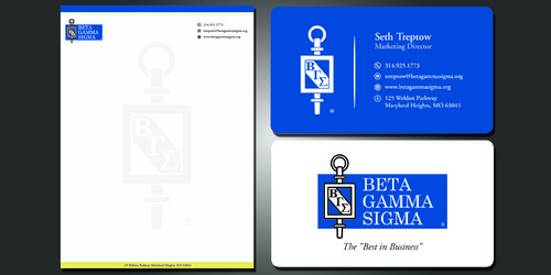 Beta Gamma Sigma Business Cards and Stationery  Draft # 116 by rasix