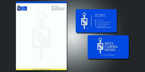 Beta Gamma Sigma Business Cards and Stationery  Draft # 117 by rasix