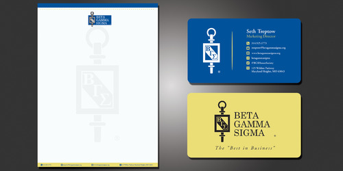 Beta Gamma Sigma Business Cards and Stationery  Draft # 119 by rasix