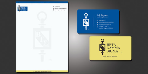 Beta Gamma Sigma Business Cards and Stationery  Draft # 120 by rasix