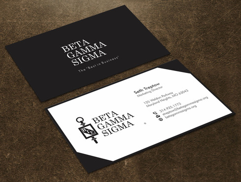 Beta Gamma Sigma Business Cards and Stationery  Draft # 123 by Xpert