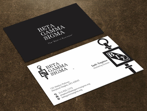 Beta Gamma Sigma Business Cards and Stationery  Draft # 124 by Xpert