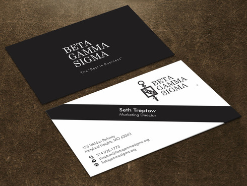 Beta Gamma Sigma Business Cards and Stationery  Draft # 125 by Xpert