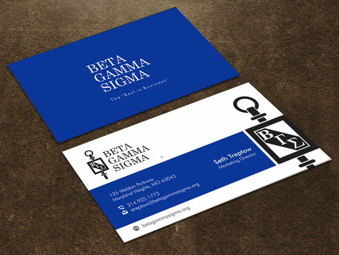 Beta Gamma Sigma Business Cards and Stationery  Draft # 126 by Xpert