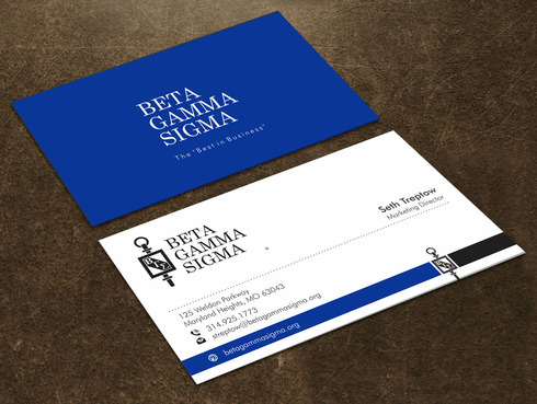 Beta Gamma Sigma Business Cards and Stationery  Draft # 128 by Xpert