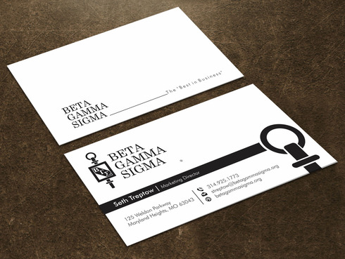 Beta Gamma Sigma Business Cards and Stationery  Draft # 129 by Xpert