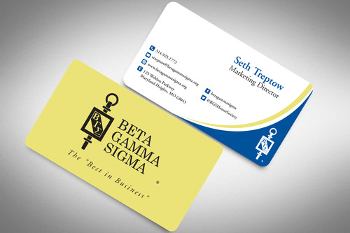 Beta Gamma Sigma Business Cards and Stationery  Draft # 145 by rasix