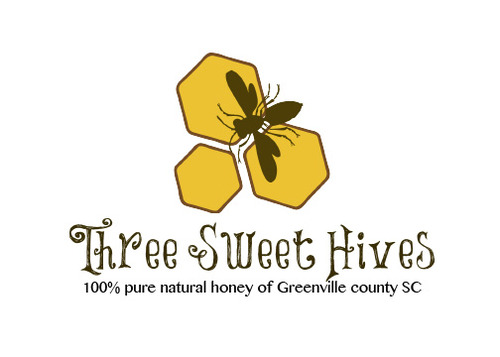 3 bee hives, a bee and or honey comb A Logo, Monogram, or Icon  Draft # 60 by GypsyGraphics