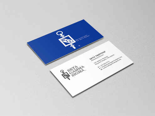 Beta Gamma Sigma Business Cards and Stationery  Draft # 155 by graphikjam