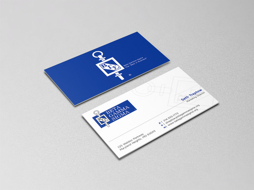 Beta Gamma Sigma Business Cards and Stationery  Draft # 156 by graphikjam