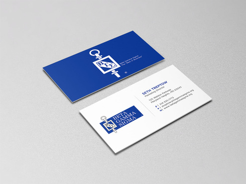 Beta Gamma Sigma Business Cards and Stationery  Draft # 157 by graphikjam