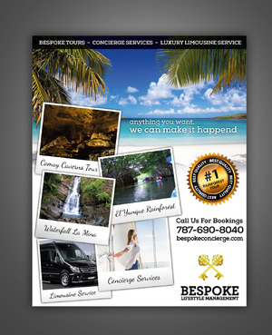 Bespoke Tours * Concierge Services * Luxury Limousine Service Marketing collateral  Draft # 8 by pivotal