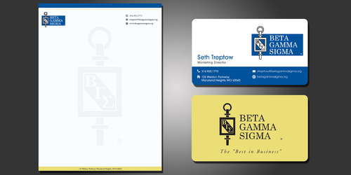 Beta Gamma Sigma Business Cards and Stationery  Draft # 207 by rasix
