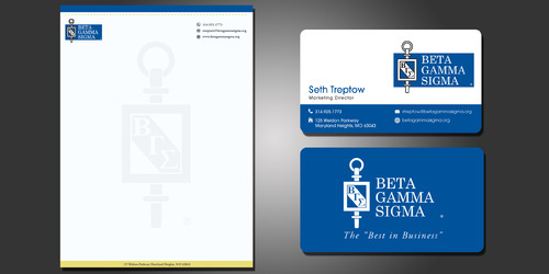 Beta Gamma Sigma Business Cards and Stationery  Draft # 208 by rasix