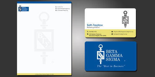 Beta Gamma Sigma Business Cards and Stationery  Draft # 210 by rasix