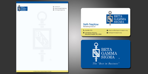Beta Gamma Sigma Business Cards and Stationery  Draft # 211 by rasix