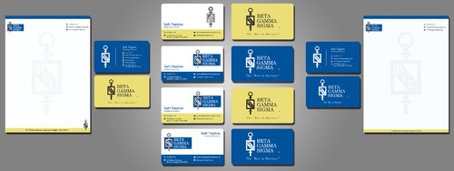 Beta Gamma Sigma Business Cards and Stationery  Draft # 212 by rasix
