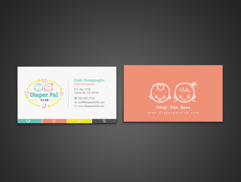 Diaper Pal Club, LLC Business Cards and Stationery Winning Design by einsanimation