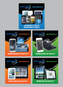 Series of Online Adds to Advertise Smartphoen & Tablet Repairs Other  Draft # 1 by Achiver