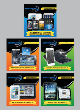 Series of Online Adds to Advertise Smartphoen & Tablet Repairs Other  Draft # 2 by Achiver