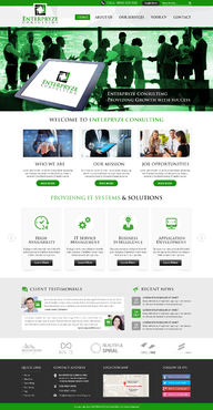 Enterpryze Consulting Complete Web Design Solution Winning Design by FuturisticDesign