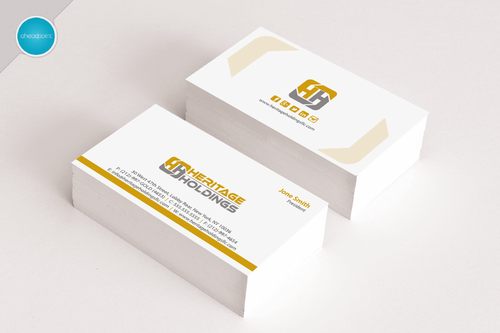 Heritage Holdings Business Cards and Stationery  Draft # 125 by aheadpoint