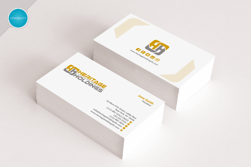 Heritage Holdings Business Cards and Stationery  Draft # 145 by aheadpoint
