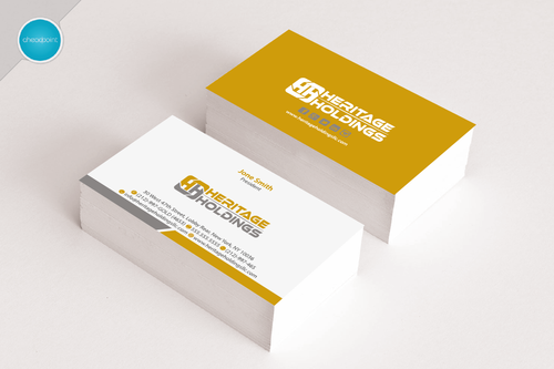 Heritage Holdings Business Cards and Stationery  Draft # 147 by aheadpoint