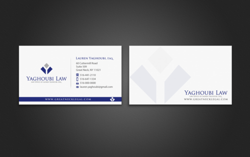 Yaghoubi Law  Business Cards and Stationery Winning Design by einsanimation