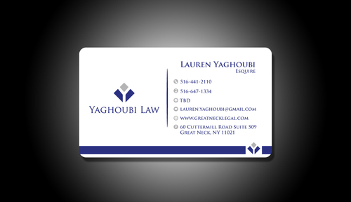Yaghoubi Law  Business Cards and Stationery  Draft # 201 by rasix