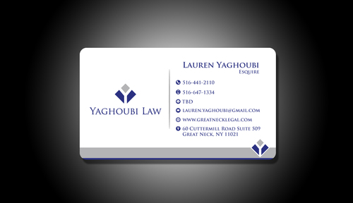 Yaghoubi Law  Business Cards and Stationery  Draft # 203 by rasix