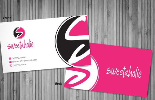 Sweetaholic Business Cards and Stationery  Draft # 3 by sevensky