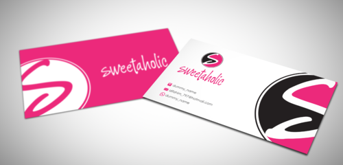 Sweetaholic Business Cards and Stationery  Draft # 4 by sevensky